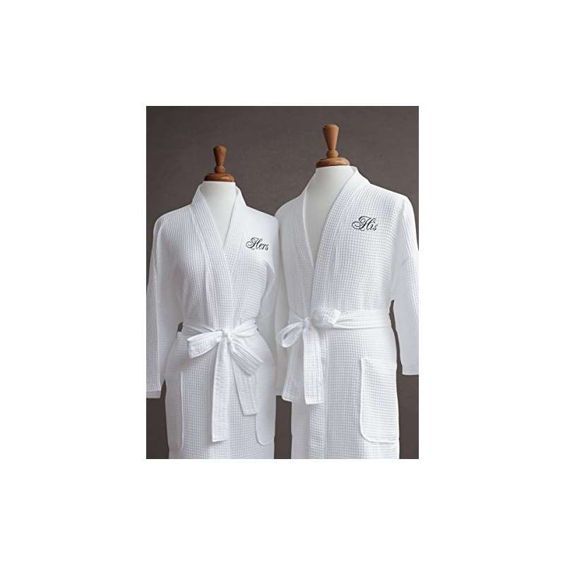 Luxor Linens Luxury Bath Robe - Egyptian Egyptian Cotton His Hers ... 3d7731cd9